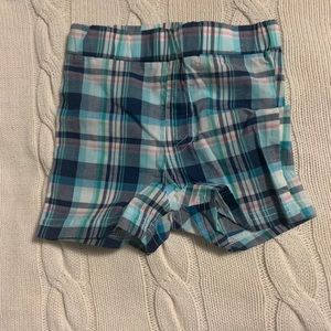 Andy & Evan Plaid Shorts Size 3-6M Blue Nordstrom